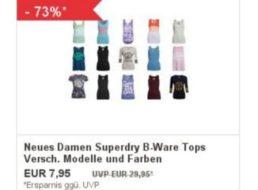 Superdry: Damen-Tops als B-Ware für 7,95 Euro frei Haus