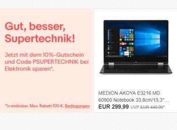 Ebay: 10 Prozent Technik-Rabatt, auch auf bereits reduzierte Artikel
