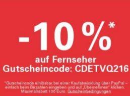 Ebay: TV-Rabatt von zehn Prozent für wenige Tage