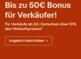 Wieder da: 10 Prozent Gutschein-Rabatt fürs Verkaufen bei Ebay