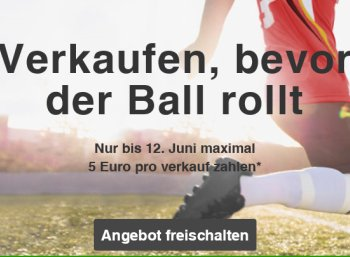 Ebay: Verkaufsgebühr von maximal fünf Euro bis zum 12. Juni