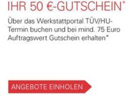 Ebay: Gutschein über 50 Euro für Auftrag beim Werkstattportal