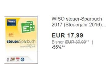 """Ebay: """"Wiso Steuer Sparbuch 2017"""" für 17,99 Euro frei Haus"""