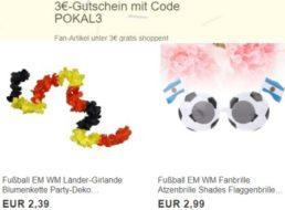 Gratis: WM-Fanartikel unter 3 Euro zum Nulltarif frei Haus