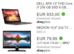 Ebay: Einsteiger-TV für 79,99 Euro, XPS-Notebook für 933 Euro im Angebot