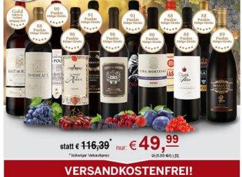 Ebrosia: Best-of-Weinpaket mit zwölf Flaschen für 49,99 Euro frei Haus