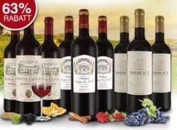 Ebrosia: Bordeaux-Probierpaket mit neun Flaschen für 39,99 Euro frei Haus
