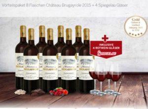 """Ebrosia: Acht Flaschen prämierter """"Château Brugayrole"""" mit vier Gläsern für 39,90 Euro"""