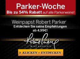 Ebrosia: Parker-Woche mit bis zu 54 Prozent Rabatt auf prämierte Weine