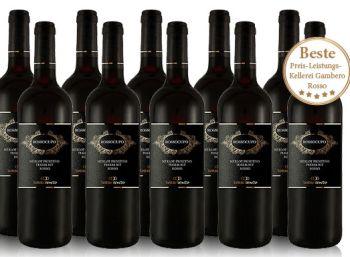 Zehn Flaschen Torrevento Merlot Primitivo Rossocupo Puglia für 39,99 Euro