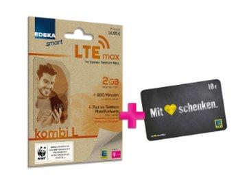 Edeka Smart: LTE-Vertrag für 4,95 Euro mit Gutschein über 10 Euro
