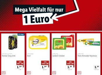Lidl: Ein-Euro-Woche mit zwölf Artikeln für je einen Euro