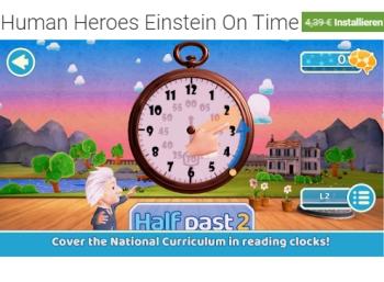 """Gratis: Lern-App """"Human Heroes Einstein On Time"""" für 0 Euro"""