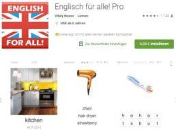 """Gratis: App """"Englisch für alle! Pro"""" bei Google Play zum Nulltarif"""