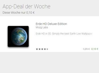 """Google Play: """"Erde HD Deluxe Edition"""" für 10 Cent im Angebot"""