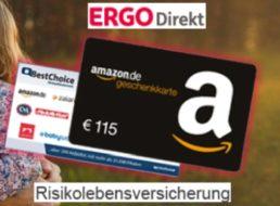 Ergo Direkt: Risikolebensversicherung ab 2,75 Euro / Monat mit 115 Euro Bonus