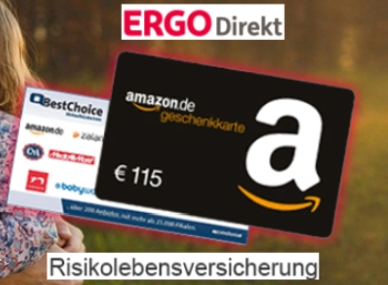 Ergo Direkt: 115 Euro Bonus zur Risikolebensversicherung ab 2,75 Euro / Monat