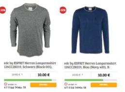 Dealclub: Langarm-Shirts von Esprit für zehn Euro frei Haus