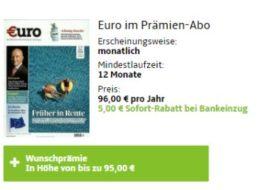 """Knaller: Jahresabo """"Euro"""" für 91 Euro mit Gutschein über 95 Euro"""