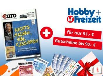 Euro: Jahresabo für 91 Euro mit Prämien über 90 Euro