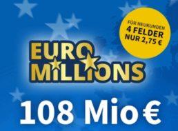 Euromillions: Schnäppchen-Angebote zum Jackpot von 108 Millionen Euro