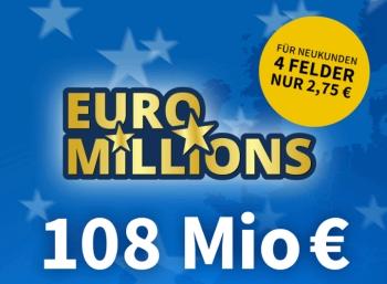 euromillions schn ppchen angebote zum jackpot von 108 millionen euro. Black Bedroom Furniture Sets. Home Design Ideas