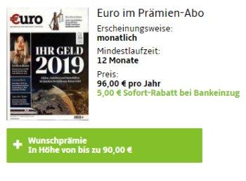 Euro: Jahresabo für 91 Euro mit Gutscheinen über 90 Euro
