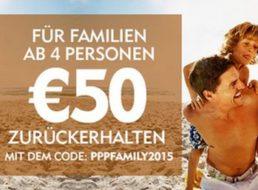 Expedia: 50 Euro Cashback für Familien-Urlaubsbuchungen