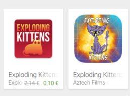 Exploding Kittens: Kult-App jetzt für kurze Zeit für 10 Cent zu haben