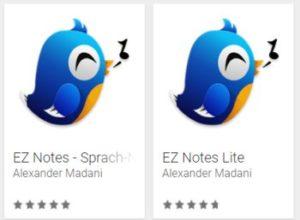 """Gratis: Sprachnotiz-App """"EZ Notes"""" bei Google Play für 0 Euro"""
