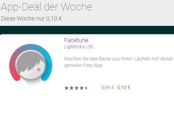 """Schnäppchen-App: """"Facetune"""" für 10 Cent statt 3,99 Euro"""