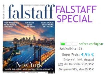 Falstaff: Jahresabo des Gourmet-Magazins für 4,95 statt 65,90 Euro