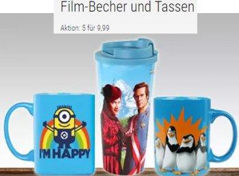 Buecher.de: Fünf Filmtassen nach Wahl für 9,99 Euro frei Haus