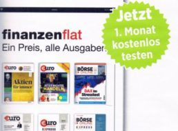 Gratis: Finanzen-Flat im Wert von 19,90 Euro für einen Monat kostenlos