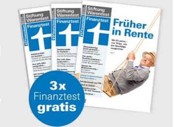 Gratis: Finanztest dreimal frei Haus für 0 Euro