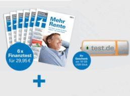 Finanztest: Sechs Ausgaben inklusive USB-Stick für 29,95 Euro