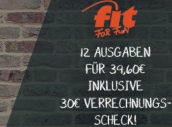 Fit for Fun: Jahresabo für nur 4,60 Euro dank Verrechnungsscheck
