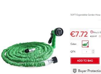Knaller: Flexibler Gartenschlauch mit Brause für 7,72 Euro frei Haus