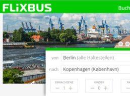 Flixbus: Bustickets nach Dänemark oder Schweden für neun Euro