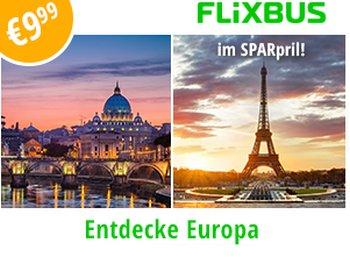 Flixbus: 500.000 April-Tickets für je 9,99 Euro ab sofort buchbar