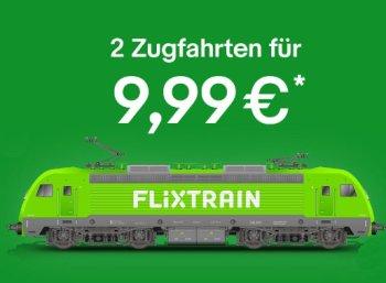 Ebay: Gutschein für zwei Flixtrain-Bahnfahrten deutschlandweit für 9,99 Euro