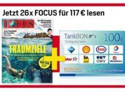 Focus: Halbjahresabo für 117 Euro mit Tankgutschein über 100 Euro
