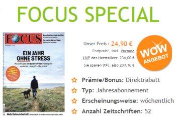 Focus: Jahresabo zum Direktpreis von 24,90 Euro frei Haus