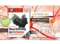Focus: Jahresabo für 19,90 statt über 200 Euro frei Haus