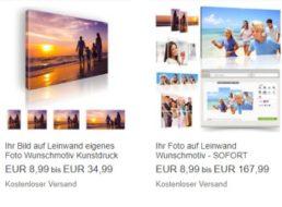 Ebay: Foto auf Leinwand für 8,99 Euro mit Versand