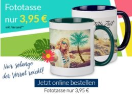 Pixelnet: Fototasse für 3,95 Euro frei Haus, Kalender für 4,95 Euro