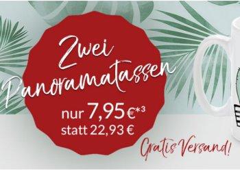 Knaller: Zwei selbst gestaltete Fototassen für 7,95 Euro frei Haus