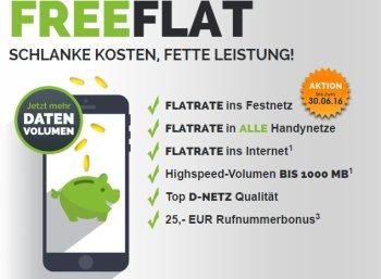 Freenet: Allnet-Flat mit GByte-Flat im Vodafone-Netz für 9,95 Euro
