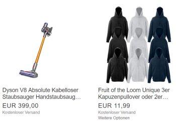 Fruit of the Loom: 3 Hoodies oder 2 Jacken für 11,99 Euro frei Haus