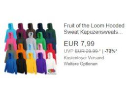 """Ebay: Kapuzensweatshirt von """"Fruit of the Loom"""" für 7,99 Euro frei Haus"""